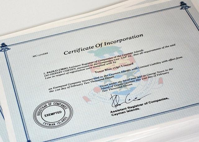 Certificado emitido por la web Loophole 4 All