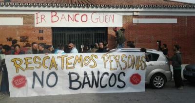 """Comedor popular """"Er Banco Güeno"""" situado en una antigua entidad financiera  [Fuente: anticapitalistes.net]"""